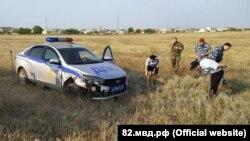 Авто российской полиции после погони за пьяным водителем в Крыму