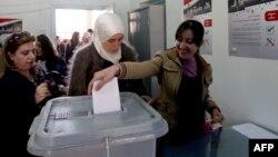 Голосование на референдуме. Дамаск, 26 февраля 2012 года.