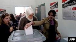 Во время референдума, Дамаск, 26 февраля 2012