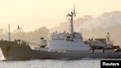Luftanija e inteligjencës ruse Liman duke lundruar në Detin e Zi në nëntor të vitit 2015