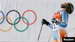 Норвегиялык спортчу Kjetil Jansrud, Сочи, 16-февраль, 2014.