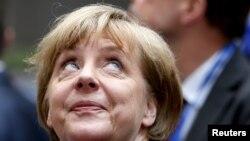 Ангела Меркель на саммите в Брюсселе. 7 июля 2015
