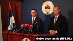 Ministar bezbjednosti BiH Fahrudin Radončić i ministar unutrašnjih poslova RS-a Dragan Lukač na konferenciji za novinare u Banjaluci, 6. mart 2020.