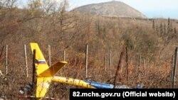 Місце аварії вертольота, Крим, 28 листопада 2016 рік