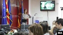 Прес-конференција на министерката за внатрешни работи Гордана Јанкулоска во врска со последната акција против шверцот со цигари.