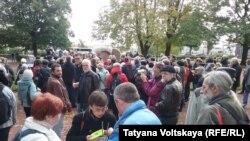 Акция памяти Анны Политковской в Петербурге