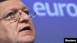 Еуропа комиссиясы басшысы Жозе Мануэл Баррозу. Брюссель, 16 мамыр 2012 жыл.