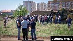 Протест на месте строительства «Крымской розы», 2 августа 2018 года