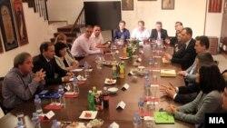 Средба на коалицијата За подобра Македонија.