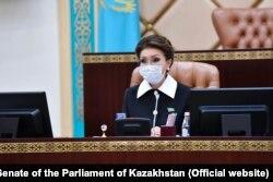 Дариға Назарбаева Қазақстан парламенті сенатының спикері кезінде. Фото сенат сайтынан алынды.