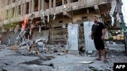 (من الارشيف) احدى التفجيرات الارهابية في منطقة الكردة ببغداد