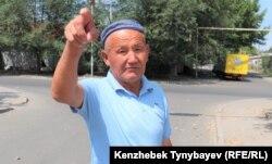 62-летний Балгабай Кыстаубаев переехал из Узбекистана три года назад. Сейчас он живет в Шаныраке с двумя сыновьями, но тоже не слышал о Шаныракских событиях. 7 июля 2021 года