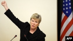 Undersecretary for Arms Control and International Security Rose Gottemoeller says Russia is in violation of the Intermediate-Range Nuclear Forces (INF) Treaty and the Treaty on Conventional Armed Forces in Europe (CFE).