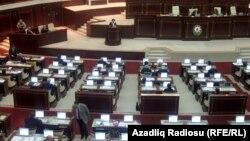 На заседании парламента Азербайджана
