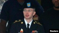 Брэдли Мэниннг әскери сотта. Мэриленд, АҚШ, 18, шілде 2013 жыл.