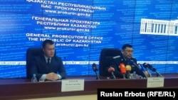 Qozog'iston MXQ vakili Ruslan Karasev Ostonadagi brifingda, 2016 yil 6 iyuni.