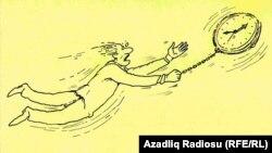 Raşid Şerifiň çeken karikaturasy (Wagt).