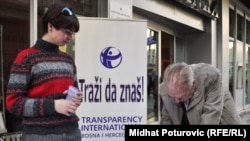 Jedna od akcija Transparency Internationala u BiH