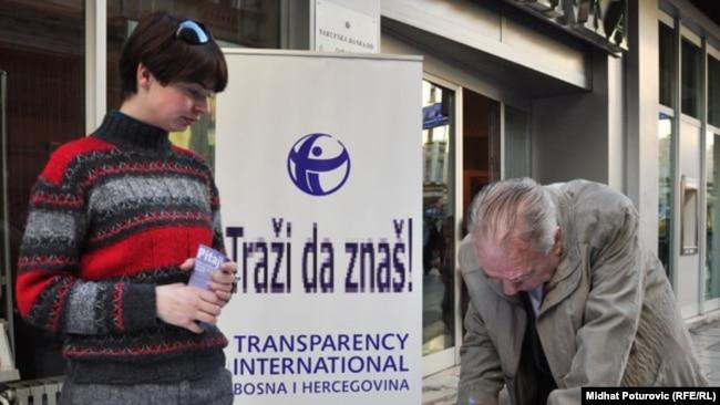 Jedna od akcija Transparency Internationala u BiH
