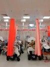 Secție de terapie intensivă cu bolnavi Covid, dintr-un spital românesc
