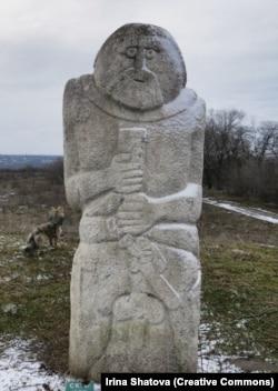 A Scythian monument on Khortytsia Island.