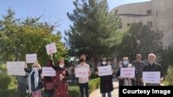 Protestë në Sanandaj nga aktivistët të cilët bënin thirrje për një hetim transparent për rastin e vdekjes së Faezeh Maleki si dhe ndryshime ligjore që sigurojnë mbrojtjen e grave.