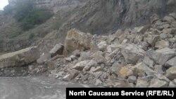Камнепад в Дагестане (архивное фото)