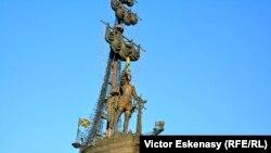 Monumentul lui Petru cel Mare de Zurab Tsereteli la Moscova.