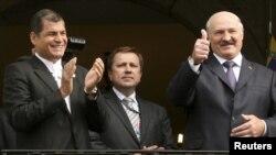Еще один большой друг Рафаэля Корреа - президент Белоруссии Александр Лукашенко