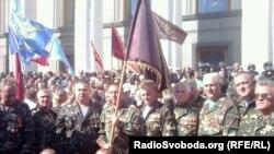 Афганці та чорнобильці штурмували Верховну Раду, Київ, 20 вересня 2011 року