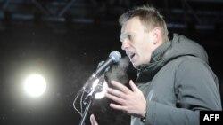 Выступление Алексея Навального на митинге на Пушкинской площади