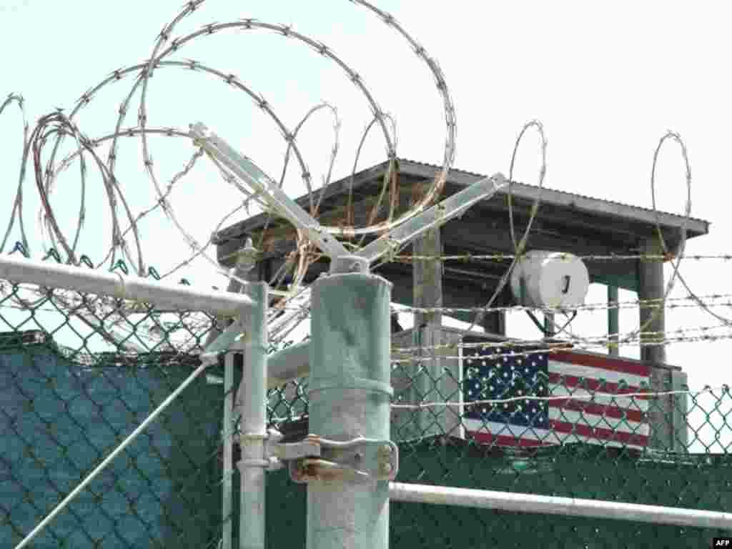 A watch tower at Guantanamo Bay