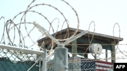 A watchtower at the Guantanamo Bay detention center