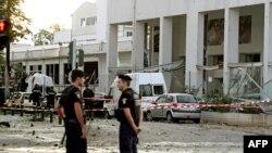 محل انفجار بمب صبح چهارشنبه در آتن