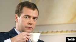 Дмитро Медведєв під час інтерв'ю агентству «Рейтер»