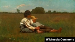 Уінслаў Гомэр, «Хлопцы на выгане» (1874).