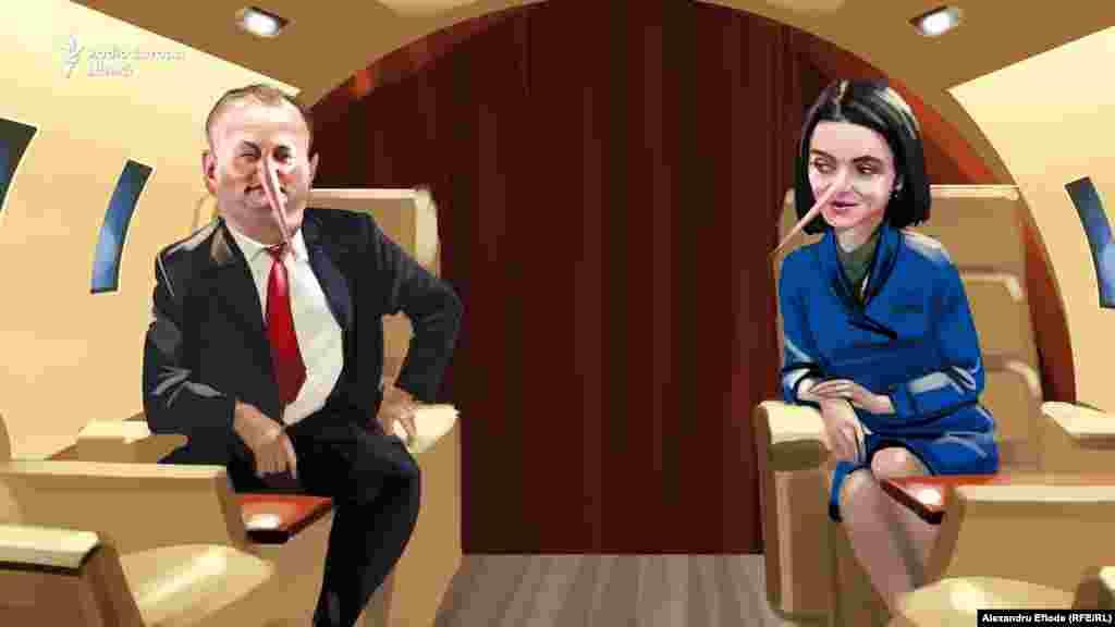 Candidata prezidențială, Maia Sandu, n-a mai aflat cine i-a plătit zborul cu avionul privat la Doha pe când era ministră.