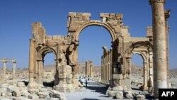 Римские развалины в Пальмире, Сирия.