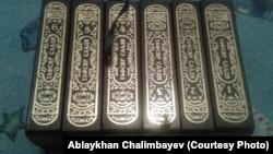 Шеститомник книги Абд ар-Рахмана ас-Саади «Толкование Священного Корана». Фото предоставлено Аблайханом Чалимбаевым.