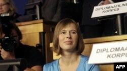 Керсти Кальюлайд, Эстонияның жаңа сайланған президенті.
