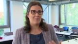 A zöldpárti Gwendoline Delbos-Corfield, az EP delegációjának vezetője Budapesten 2021. október elsején