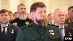Рамзан Кадыров во время церемонии инаугурации