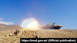 تصویر منتشر شده توسط وزارت دفاع آذربایجان از مانور نظامی مشترک با ترکیه در سهشنبه هفته گذشته