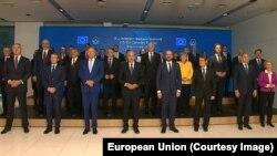Групна фотографија од самитот ЕУ -Западен Балкан, Брдо кај Крањ, 06.10.2021