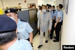 Arestarea lui Jimmy Lai pe 10 august 2020, la sediul Apple Daily.