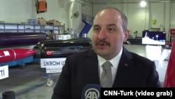 Министр промышленности и технологии Турции Мустафа Варанк, 28 февраля 2021 года.