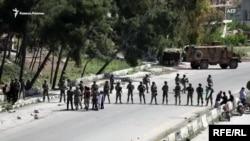 Турецко-российский военный патруль закидали камнями в Сирии (архивное фото)