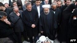 Eýranyň öňki prezident Akbar Haşemi Rafsanjaniniň hatyrasyna matam çäresi, Tähran, 9-njy ýanwar, 2017