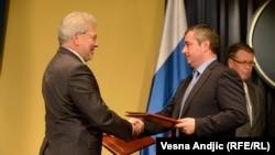 Direktor Gasproma Aleksej Miler i direktor Srbijagasa Dušan Bajatović