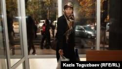 Саян Хайыровтың әйелі Шынар Бисенбаева. Алматы, 17 қазан 2013 жыл.